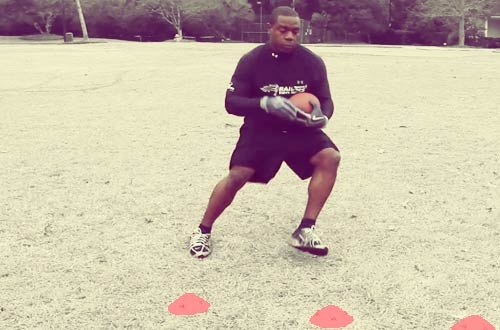 How to Train for Football With Professional Running Back Drills: Developing the Jumpcut